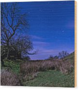 Starry Night Above Hadrians Wall Wood Print
