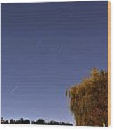 Starry Night At Hoyt Lake Wood Print