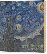 Starry Night Copy 8 Wood Print