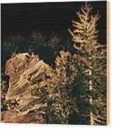 Starry Night In The Blue Ridge Wood Print