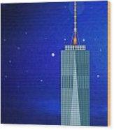 Starry Nights - Wtc One Wood Print