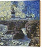 Starry Hook Head Lighthouse Wood Print