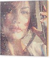 Starry Woman. Day Dreamer Wood Print