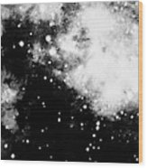 Stars And Cloud-like Forms In A Night Sky Wood Print