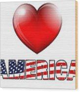 Love America Wood Print by Fenton Wylam