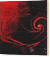 Stars Locked In Immortal Embrace Wood Print