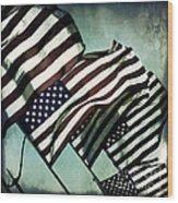 Stars N  Stripes Wood Print