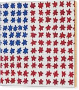 Stars No Stripes Wood Print