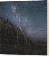 Stars On The Lake 2 Wood Print