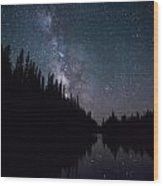 Stars On The Lake Wood Print