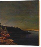 Stars Over Monument Cove 4186 Wood Print