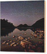 Stars Over The Bubbles Wood Print by Brent L Ander