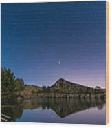 Stars Reflect In Cawfield Quarry Wood Print