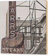 Stars Steaks Frys And Burgers Wood Print