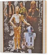 Stars Wars Autographed Movie Poster Wood Print