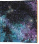Starscape Nebula Wood Print
