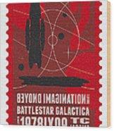 Starschips 02-poststamp - Battlestar Galactica Wood Print