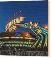 Starship 2000 Wood Print