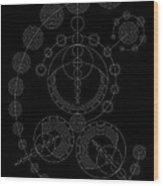 Starship Inverse Wood Print