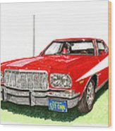 Starsky Hutch 1974 Ford Gran Torino Sport Wood Print