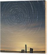 Startrails 2 Wood Print