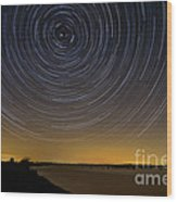 Startrails 3 Wood Print