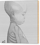 Starved African Girl Wood Print