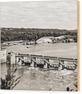 Starved Rock Lock And Dam Wood Print