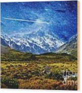 Stary Night Over Highlands Wood Print