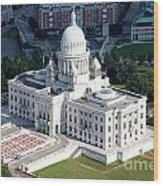 State Capitol Buildng Providence Rhode Island Wood Print
