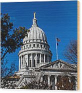 State Capitol In Madison Wi Wood Print