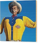 State Fair Of Texas Big Tex Yellow Wood Print