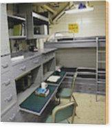 State Room Aboard Battleship Uss Wood Print