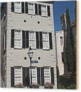 State Street - Charlestons French Quarter Wood Print