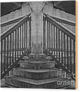 State Street Stairs Wood Print