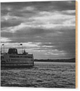 staten island ferry Andrew J Barberi heading towards staten island Wood Print