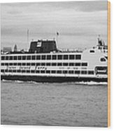 staten island ferry Andrew J Barberi new york usa Wood Print