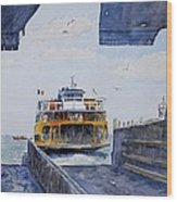Staten Island Ferry Docking Wood Print
