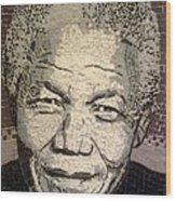 Nelson Mandela Statesman Wood Print