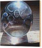 Static Spheres Wood Print by Jaime Neo