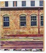 Station House Wood Print