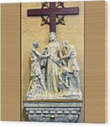 Station Of The Cross 10 Wood Print