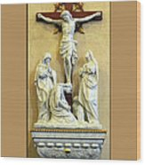 Station Of The Cross 12 Wood Print
