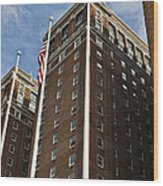 Statler Towers Wood Print by Peter Chilelli
