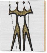 statuary - landmark of Brasilia city Wood Print
