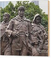 Statue Depicting Glory Of Chinese Communist Party Shanghai China Wood Print