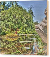 Statue In Brookgreen Gardens Wood Print
