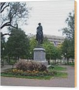 Statue In Kansas City Wood Print