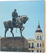 Statue In Montevideo Uruguay Wood Print
