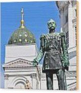 Statue Of Alexander II Wood Print